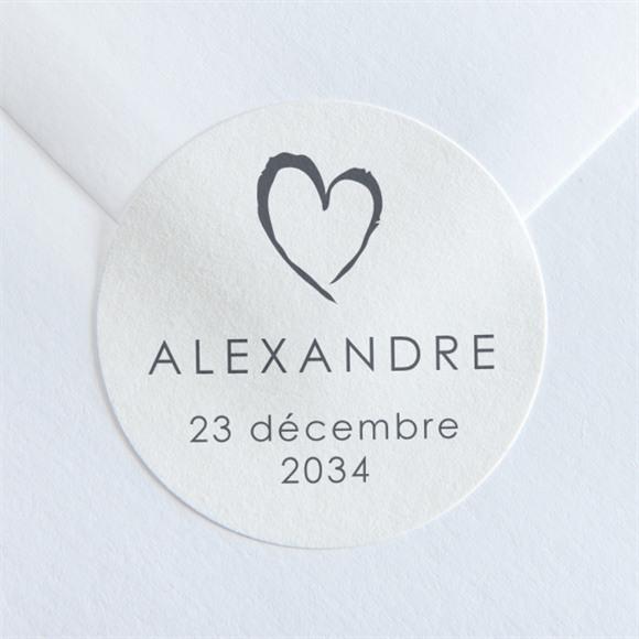 Sticker naissance Notre Coeur réf.N36071