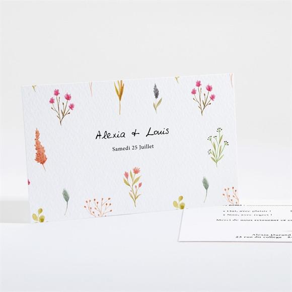 Carton réponse mariage Folie Printanière réf.N161128