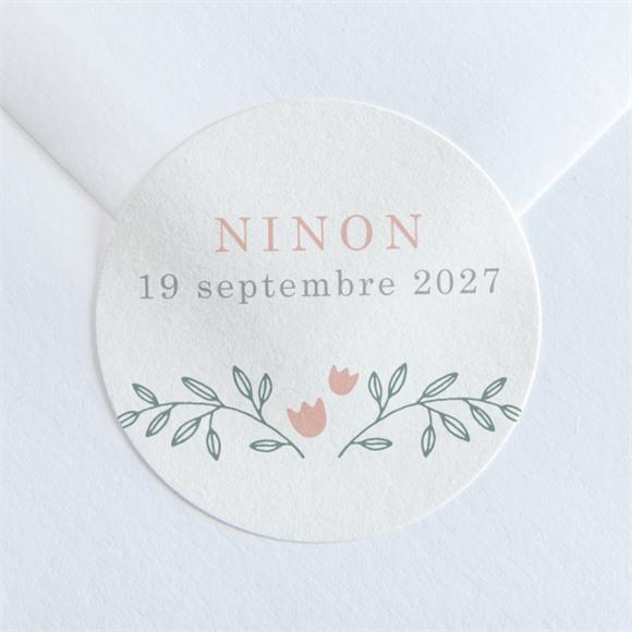 Sticker naissance Délicatement réf.N36077