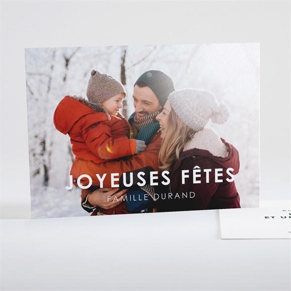 Carte de voeux Joyeuses Fetes réf.N15119