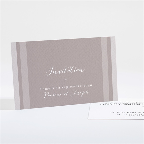Carton d'invitation mariage Notre Camaïeu réf.N161131