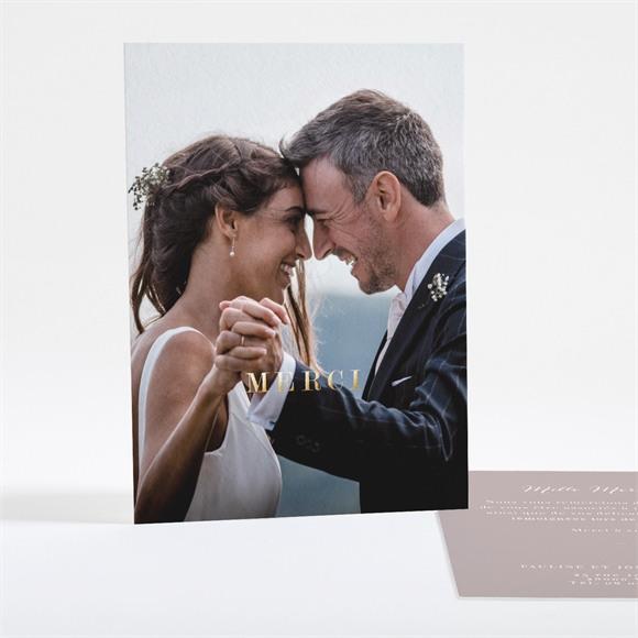 Remerciement mariage Notre Camaïeu réf.N28123