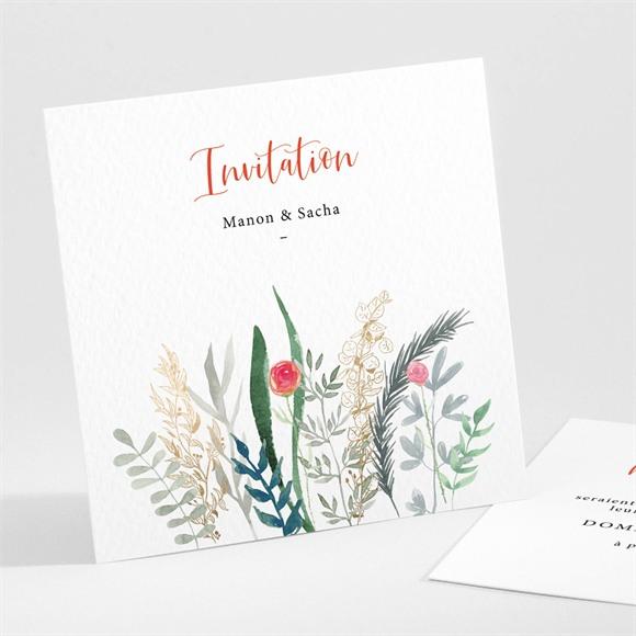 Carton d'invitation mariage Douceur Printanière réf.N301211
