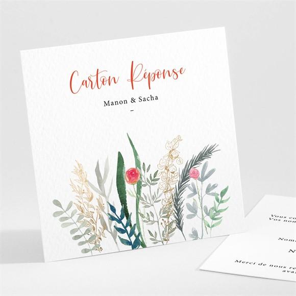 Carton réponse mariage Douceur Printanière réf.N301212