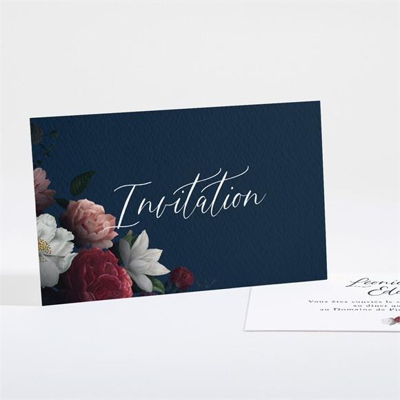 Carton d'invitation mariage Fleurs de Nuit réf.N161134