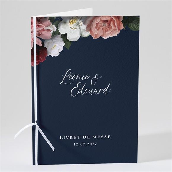 Livret de messe mariage Fleurs de Nuit réf.N491209