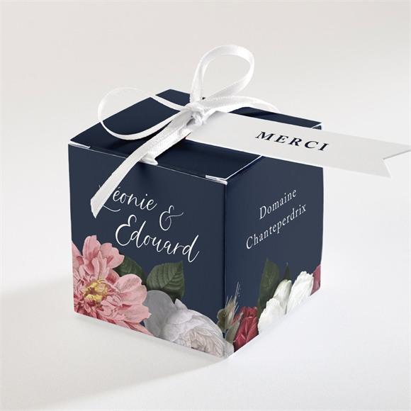 Boîte de dragées mariage Fleurs de Nuit réf.N340310