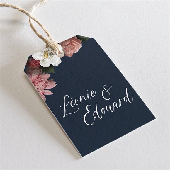 Etiquette mariage Fleurs de Nuit réf.N29168