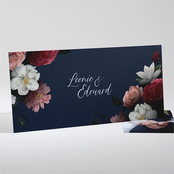 Remerciement mariage Fleurs de Nuit réf.N131103