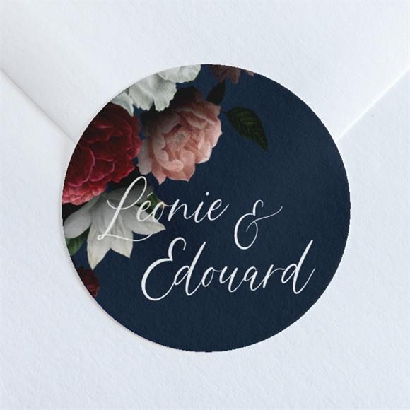 Sticker mariage Fleurs de Nuit réf.N36083