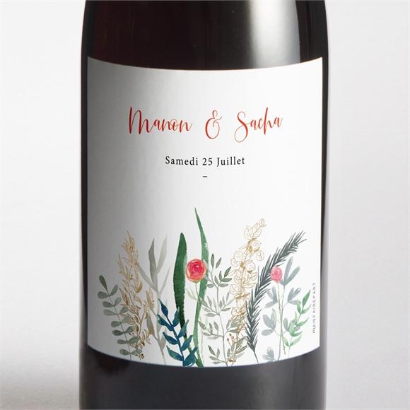 Etiquette de bouteille mariage Douceur Printanière réf.N3001621