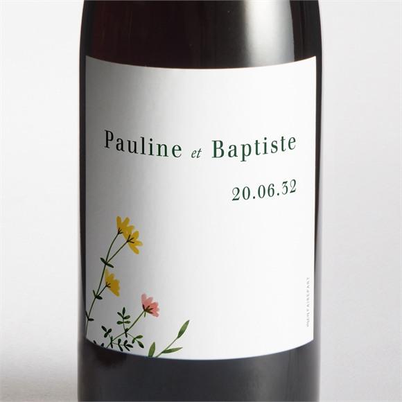 Etiquette de bouteille mariage Encadrés réf.N3001623