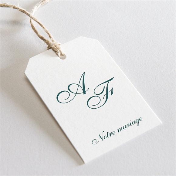 Etiquette mariage Monogramme réf.N29171