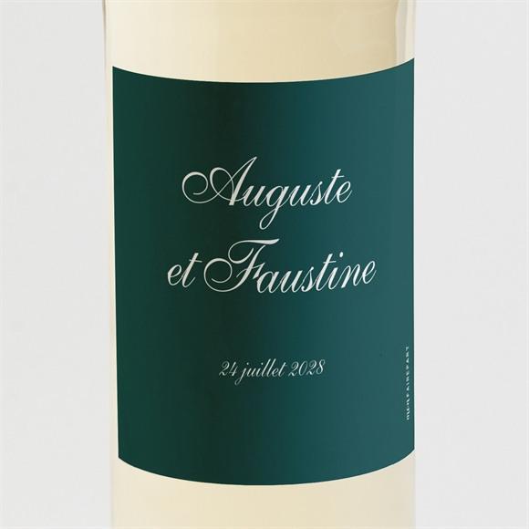 Etiquette de bouteille mariage Monogramme réf.N3001624