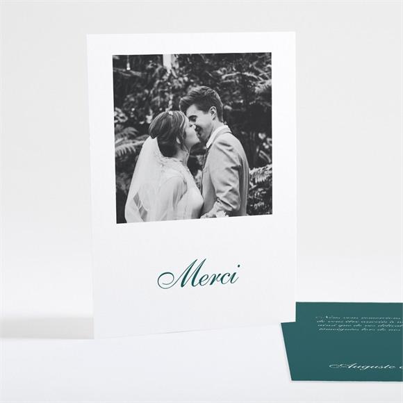 Remerciement mariage Monogramme réf.N25117