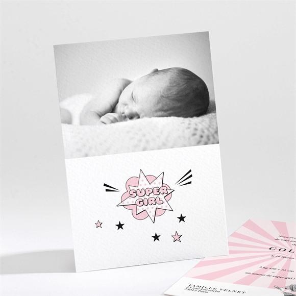 Faire-part naissance Super Girl réf.N211283