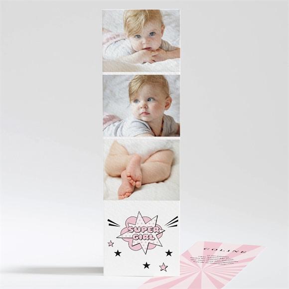 Remerciement naissance Super Girl réf.N201215