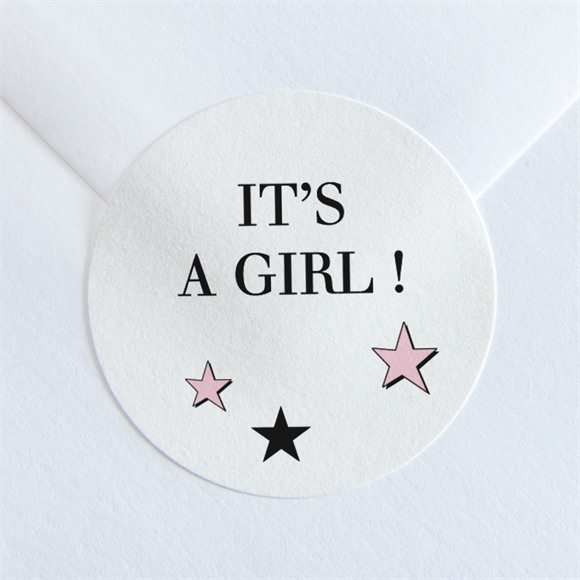 Sticker naissance Super Girl réf.N36085