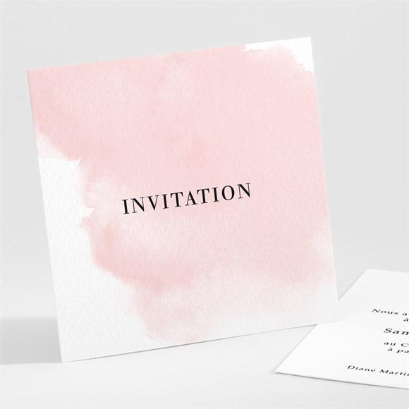 Carton d'invitation mariage Black et pastel réf.N301225