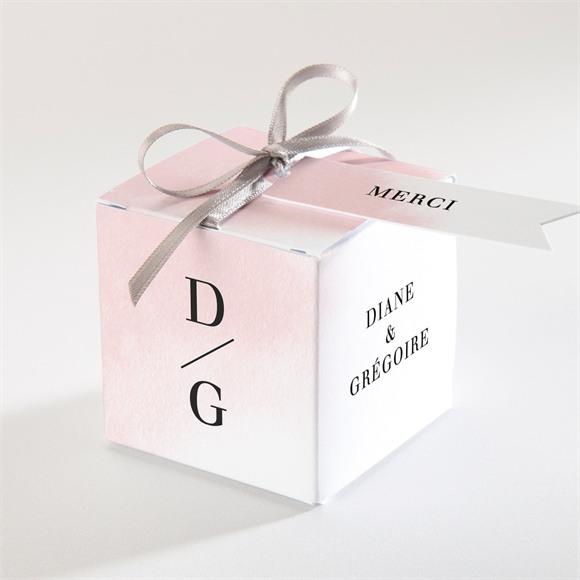 Boîte de dragées mariage Black et pastel réf.N340313