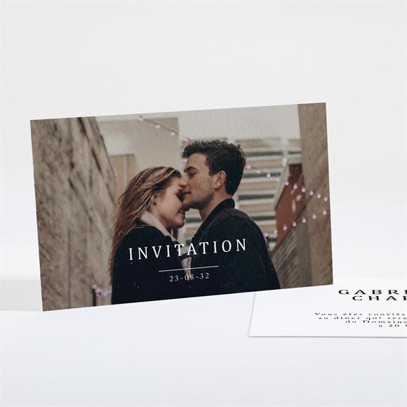 Carton d'invitation mariage Un point c'est Nous réf.N161139