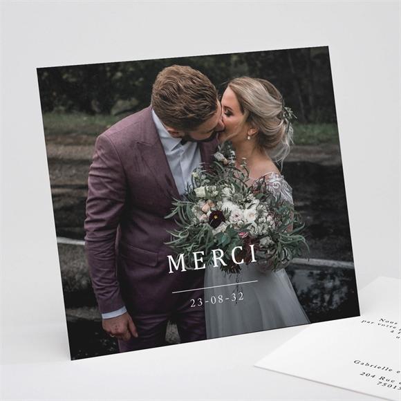 Remerciement mariage Un point c'est Nous réf.N311261