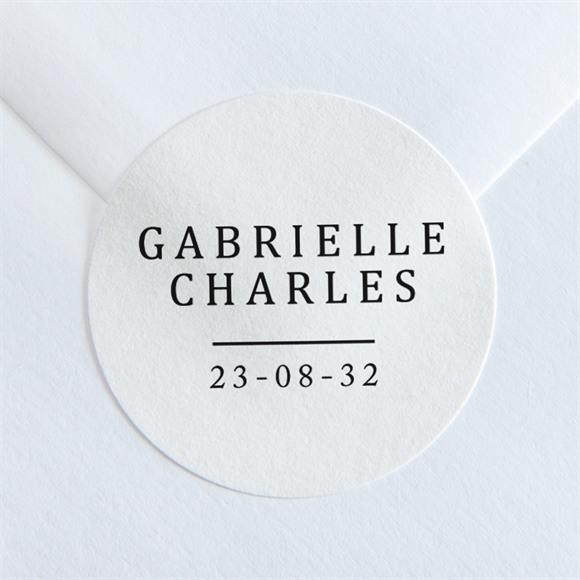 Sticker mariage Un point c'est Nous réf.N36092