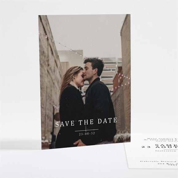 Save the Date mariage Un point c'est Nous réf.N25118