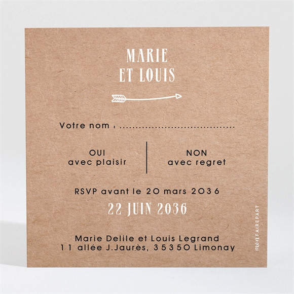 Carton réponse mariage Myriade réf.N3001627