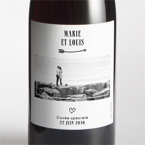 Etiquette de bouteille mariage Myriade réf.N3001628
