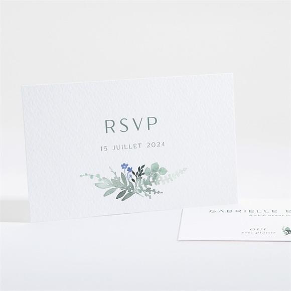 Carton réponse mariage Poésie d'Aquarelle réf.N161144