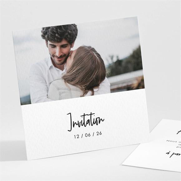 Carton d'invitation mariage Juste Nous réf.N301229