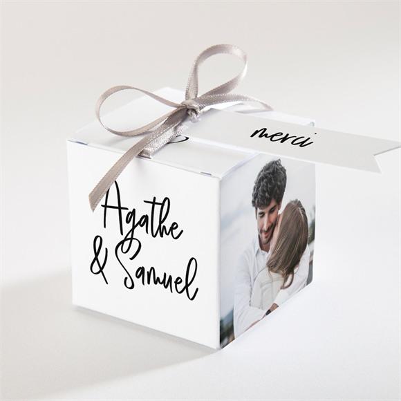 Boîte de dragées mariage Juste Nous réf.N340315