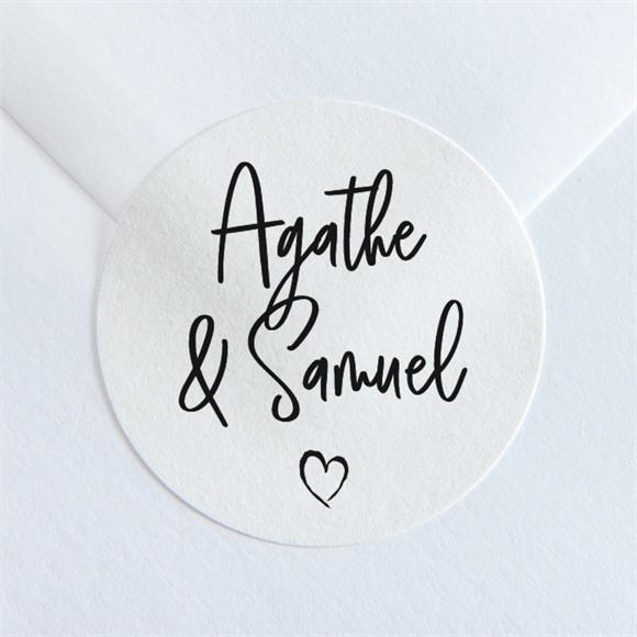 Sticker mariage Juste Nous réf.N36094