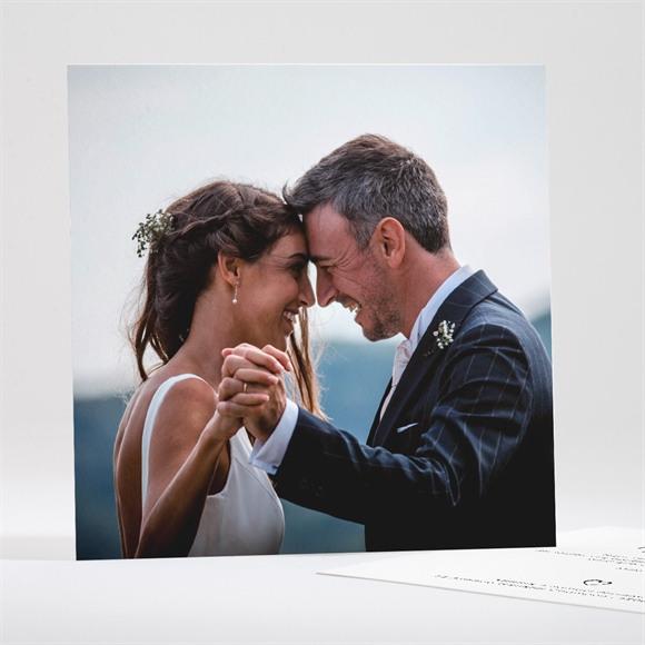 Remerciement mariage Juste Nous réf.N351114