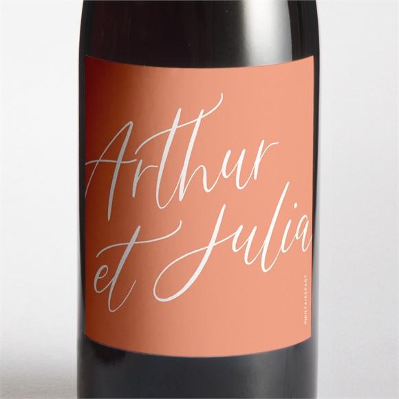 Etiquette de bouteille mariage Fantasques réf.N3001622