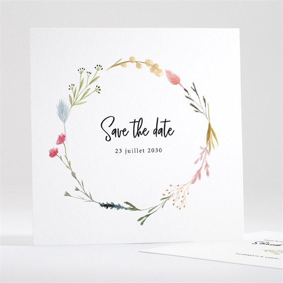 Save the Date mariage Art Champêtre réf.N351117