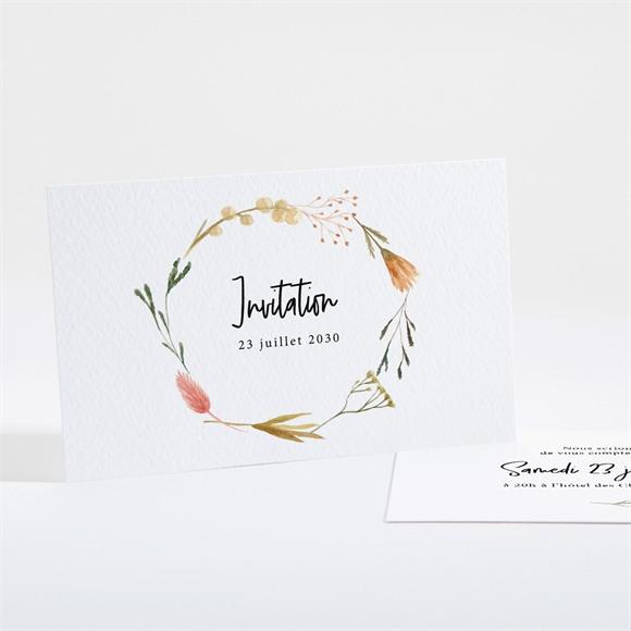 Carton d'invitation mariage Art Champêtre réf.N161145