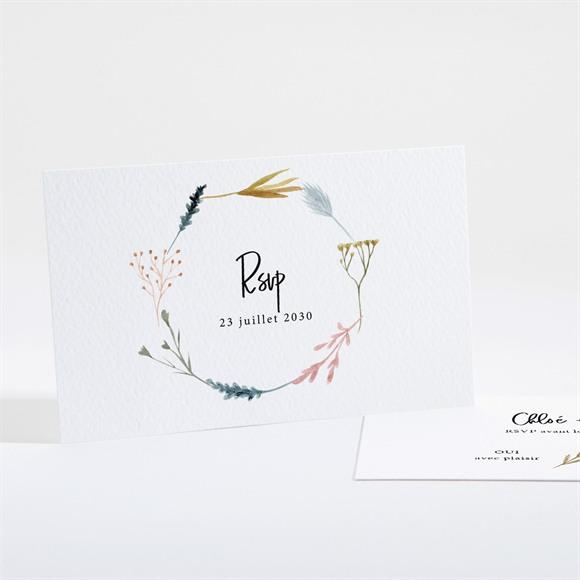 Carton réponse mariage Art Champêtre réf.N161146