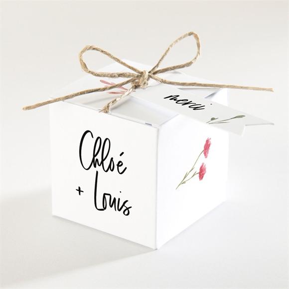 Boîte de dragées mariage Art Champêtre réf.N340316
