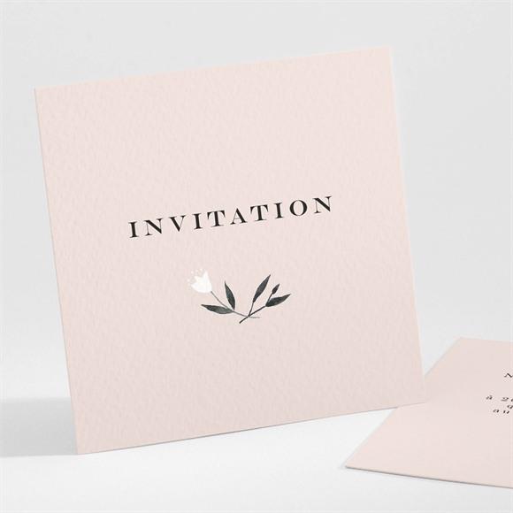 Carton d'invitation mariage En Rose et Blanc réf.N301233