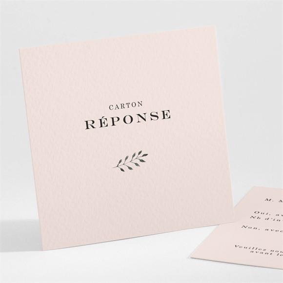 Carton réponse mariage En Rose et Blanc réf.N301234