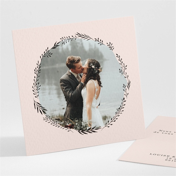 Remerciement mariage En Rose et Blanc réf.N301235