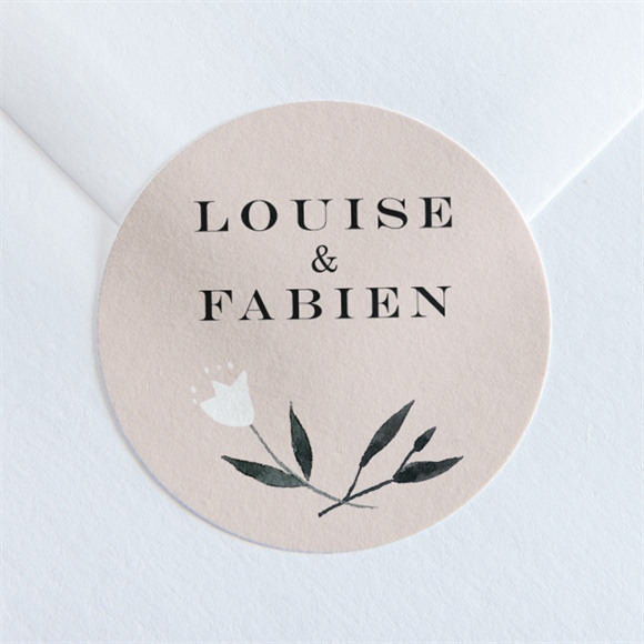 Sticker mariage En Rose et Blanc réf.N36099