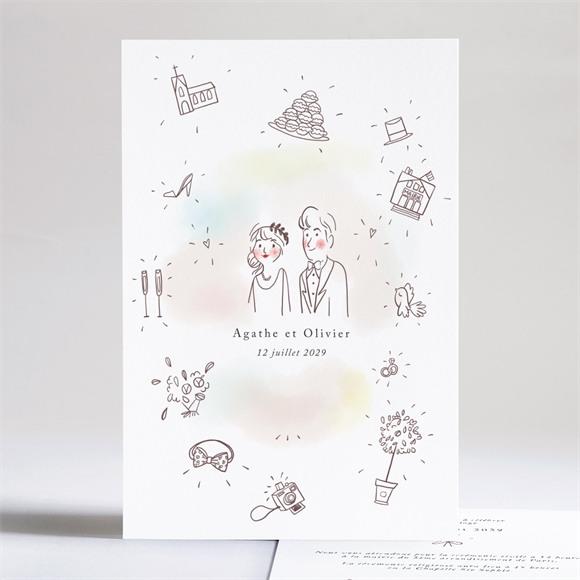 Faire-part mariage Décalés réf.N241224