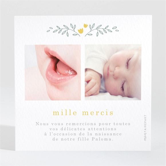 Remerciement naissance Belle Annonce réf.N3001616