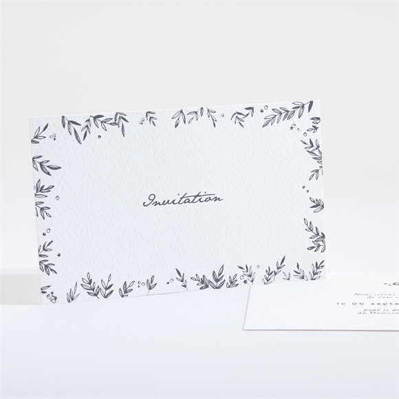 Carton d'invitation mariage Feuillages réf.N161147