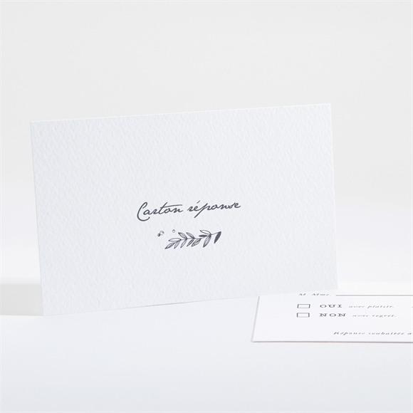 Carton réponse mariage Feuillages réf.N161148