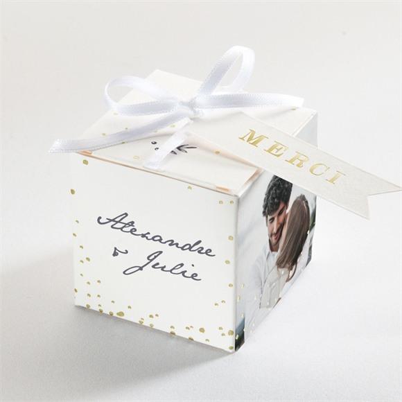 Boîte de dragées mariage Feuillages réf.N340318