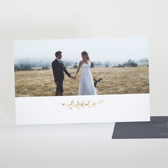 Remerciement mariage Feuillages réf.N17128
